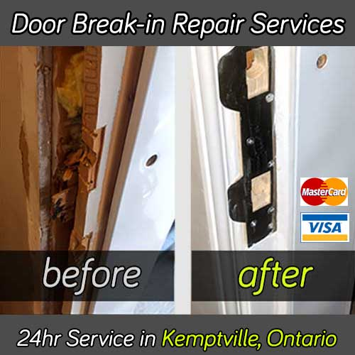 Door break in repair service in Kemptville Ontario