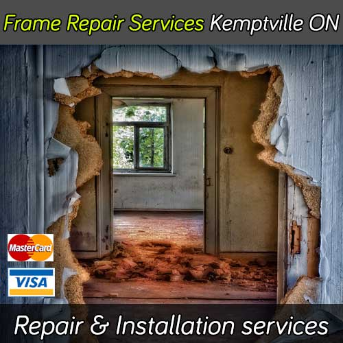 Door frame repair service in Kemptville Ontario