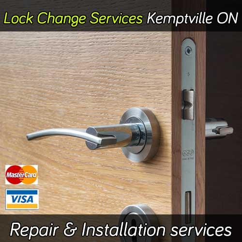 Door lock change service in Kemptville Ontario