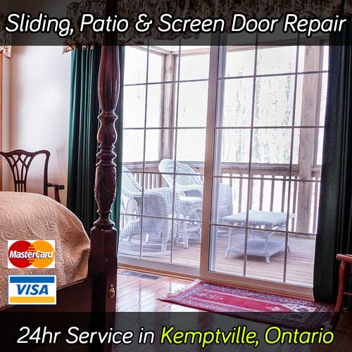 Sliding patio door repair service in Kemptville Ontario